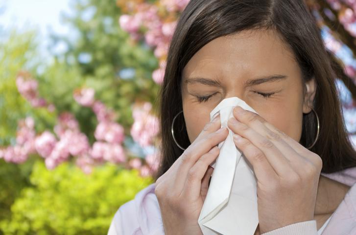 У женщины аллергия