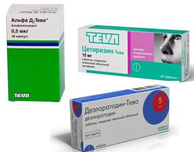 Тева от аллергии: состав, показания, инструкция, отзывы
